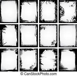 Grunge Frame Collection - A set of 12 grunge frames made...