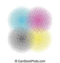 CMYK halftone vector background