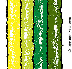 Grunge ink splat background in green and yellow