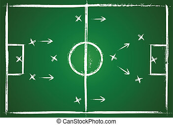 Teamwork strategy - Illustration football game. Teamwork...