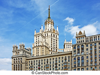 High-rise building on Kotelnicheskaya embankment in Moscow, Russia.