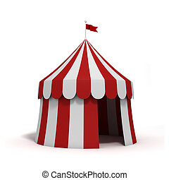 Circus tent - Stylized circus tent, isolated on white