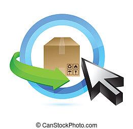 box button illustration design