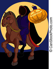 headless horseman - Jack o lantern Halloween symbol on the...