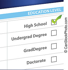 high school education level survey illustration design