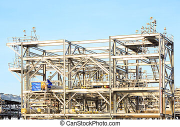 LNG Refinery Factory - Assembling of LNG ,liquefied natural...