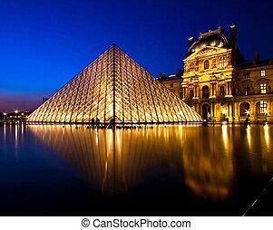 Louvre Museum Paris - PARIS-APRIL 16: Reflection of Louvre...