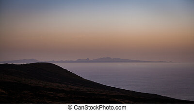 dawn - sea and coastal line in the early morning hours