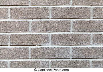 A white brick wall - closeup of a white brick wall