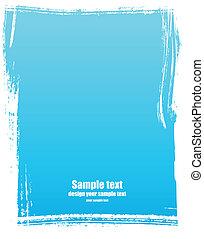 Grunge frame in blue color.
