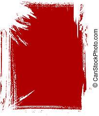Grunge frame in red color.