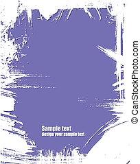 Grunge frame in violet color.