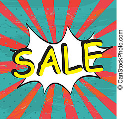 Sale expression over grunge background vector illustration