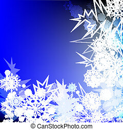 Winter corner ornament vector background.