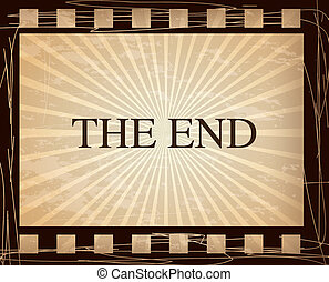 the end vintage - the end over vintage background vector...