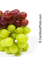 large bunch of ripe green and red juicy seedless grapes