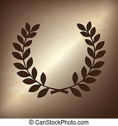 olive branch over bronze background vector illustration
