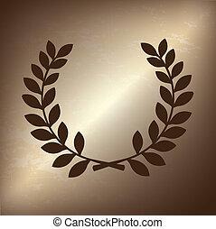 olive branch over bronze background vector illustration