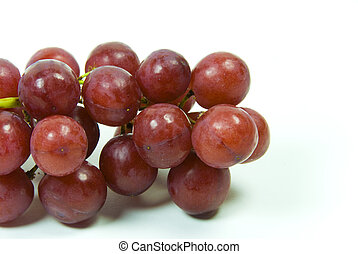 large bunch of ripe red juicy seedless grapes