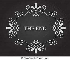 the end notice over black background vector illustration