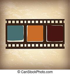 video tape vintage - video tape over vintage background...