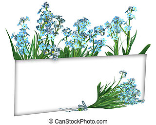 Forget-me-not Flowers, frame