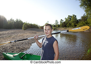 Kayaker - A young male kayaker