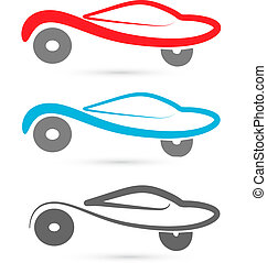 cars silhouettes logo vector - cars silhouettes image vector