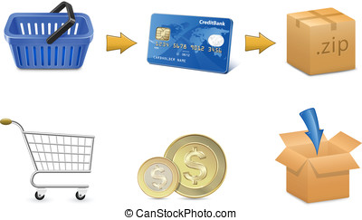Digital Goods Selling - Digital goods payment concept...