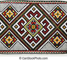 colorful pattern - ethnic colorful pattern on pillow