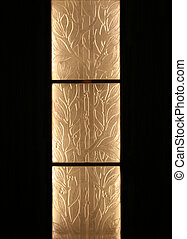 Glass Bamboo - Glass bamboo panes that make an artistic...