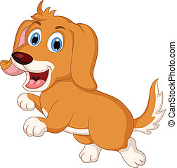 cute little dog cartoon expression - vector illustration of...