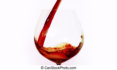 red wine being poured into glass shot in super slow motion with the sony FS700 high speed camera