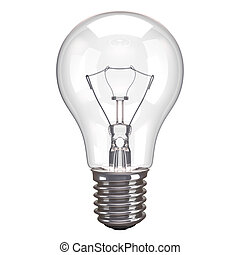 Lamp White Background - One lamp bulb isolated on white...