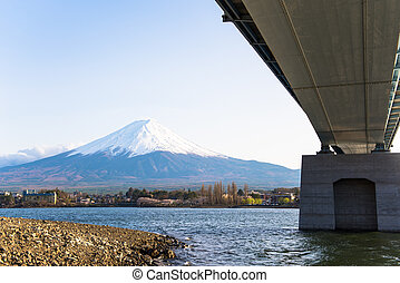 lake vie of fujisan - fujisan from the lake view