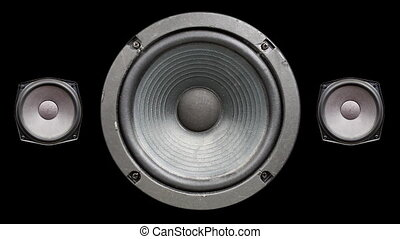 a speaker cone pumping to the sound of the bass