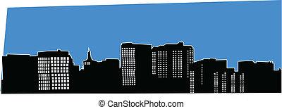San Jose California Skyline Vector
