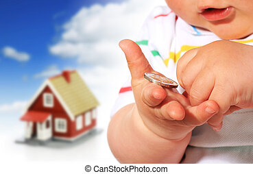 Baby, money and house. - Invest in real estate. Baby, money...