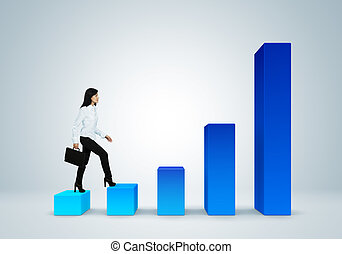 Financial report & statistics. Business success concept....