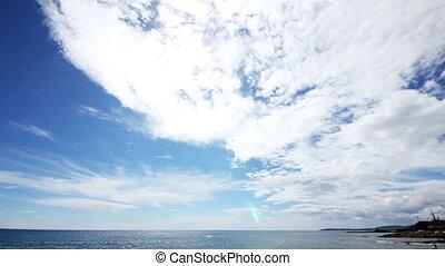 sun clouds and sea timelapse landscape