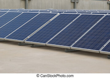 Solar panel Array - Solar panel array on a rooftop...