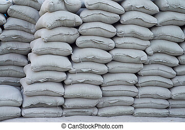Cement - Accumulation of many cement bag