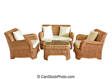 Luxury furniture isolated on white background