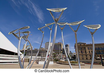 Adelaide Solar Trees - Solar panels made to look like trees...