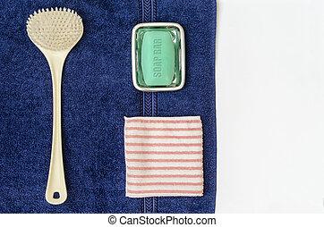 Bathing Set 01 - Bathing Set containing Back Brush, Towel,...