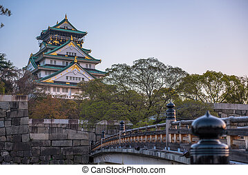 osaka castle scene from outside