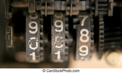 macro shot of a cassette tape counter