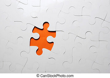 puzzle background with one missing piece