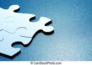 puzzle pieces  - Close up shot of puzzle pieces