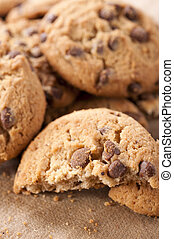 Homemadebiscuit - Homemade sweet chocolate biscuit close up